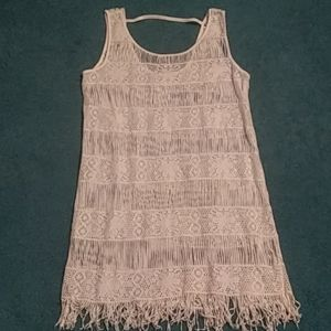 American Eagle Outfitters fringe bottom tanktop